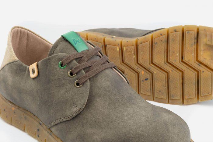 detalle textura calzado vegano