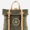mochila ecológica gris