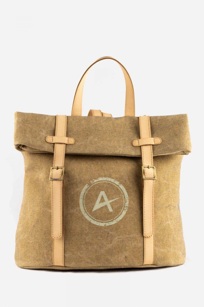 mochila ecológica beige