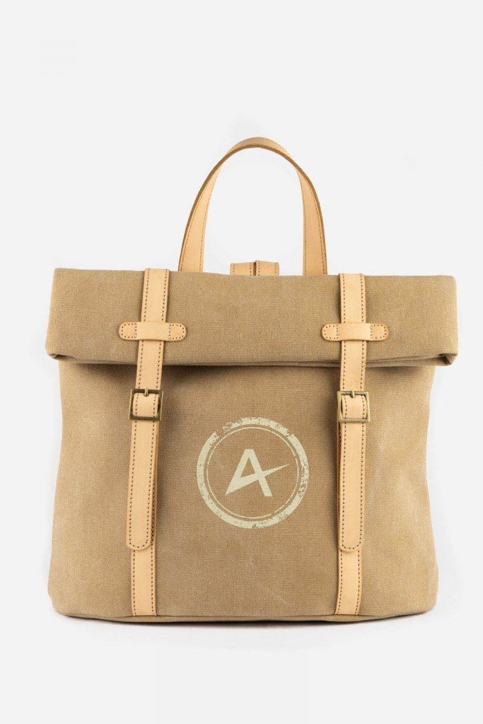 mochila ecológica marrón