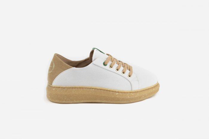 calzado vegano blanco mujer ecológico