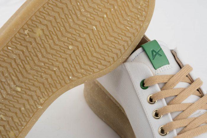 detalle suela calzado vegano reciclaje