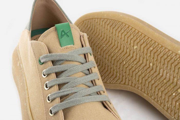 zapatillas veganas cordones y suela ecológica